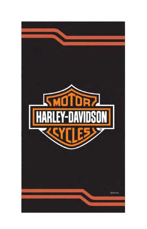Harley-Davidson® Classic Bar & Shield Heaver & Bigger Beach Towel, Black 23439