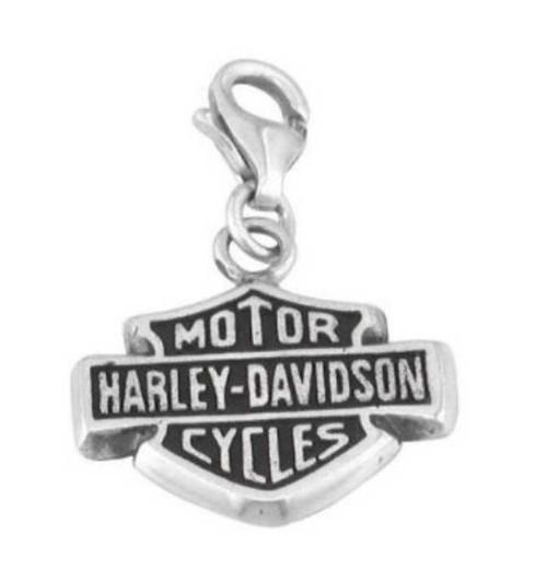 Harley-Davidson® Bar & Shield Sterling Silver Charm HDC0005