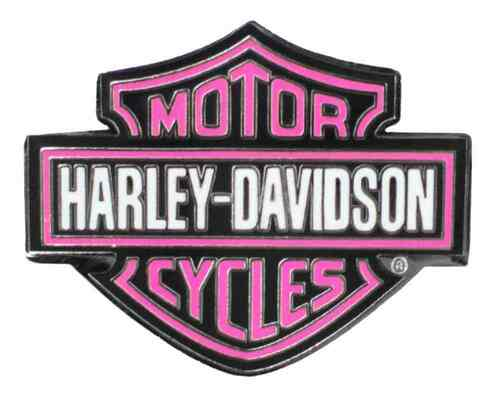 Harley-Davidson® Classic Iconic Bar & Shield Logo Pin, Pink 1.25 x 1 in 94423