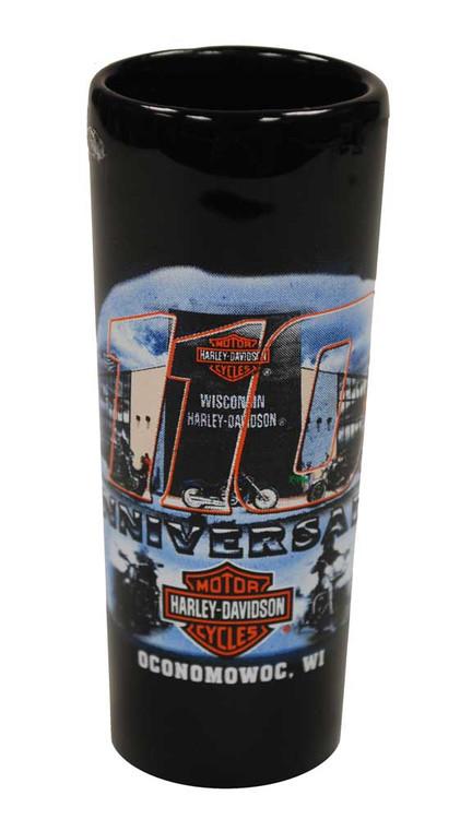 Harley-Davidson® 110th Anniversary Tall Shot Glass Black 110-SHOT