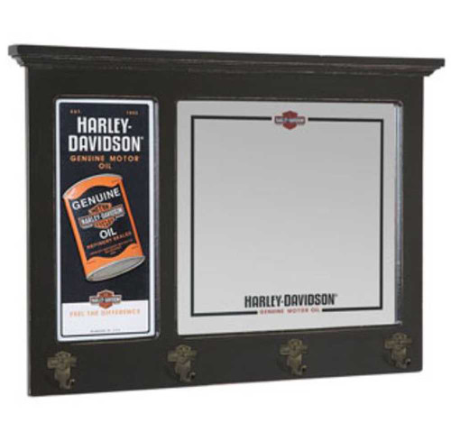HarleyDavidson Genuine Oil Can Pub Mirror HDL40 Wisconsin Best Harley Davidson Coat Rack