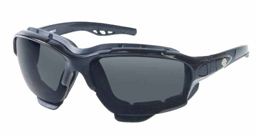 Harley-Davidson® Custom Shiny Black Frame Dark Grey Lens Sunglasses HDS700BLK-3