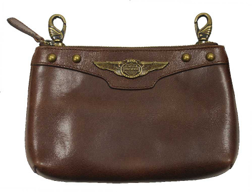 Harley-Davidson® 110th Anniversary Women's Hip Bag Brown Leather AL1180L-Brown - A