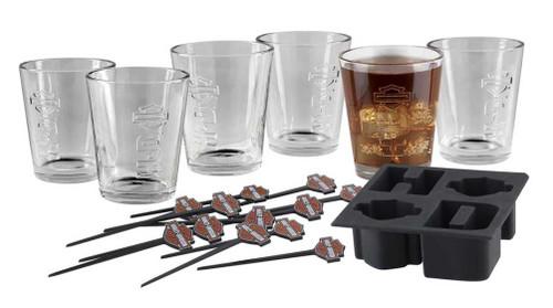 Harley-Davidson® Embossed H-D Tumbler Gift Set, Six 12 oz. Glasses HDL-18726