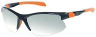 Harley-Davidson® Men's Shiny Black & Orange w/ Grey Lens Sunglasses HDS618BLK-3F