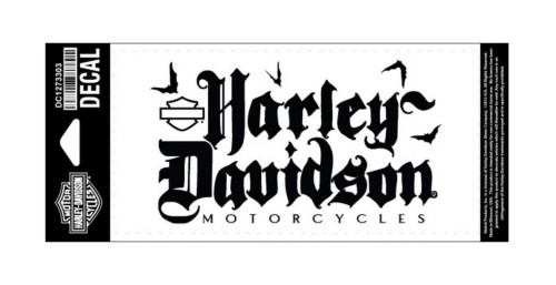 Harley-Davidson® Black Letter Decal, Medium Size, Black DC1273303