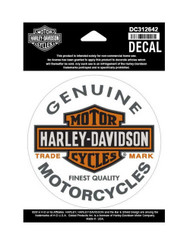 Harley-Davidson® Long Bar & Shield Decal, Orange Logo Small Size Sticker DC312642