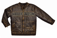 Harley-Davidson® Little Boys' Embroidered Distressed Motorcycle Jacket, 3376084 - Wisconsin Harley-Davidson