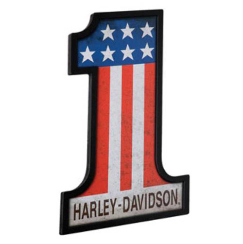 Harley-Davidson® #1 Racing Custom Shape Pub Sign HDL-15310