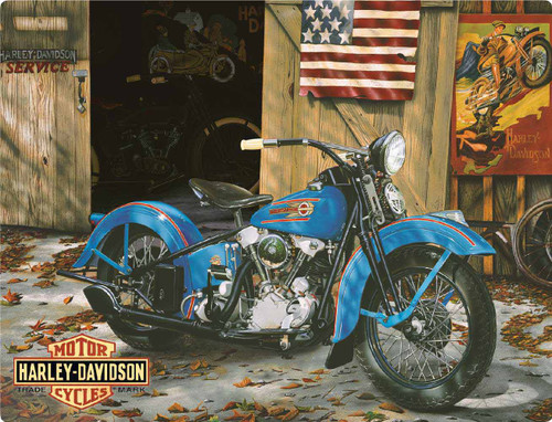 Harley-Davidson® At Your Service Tin Metal Sign 13 x 17 Inches  2010541