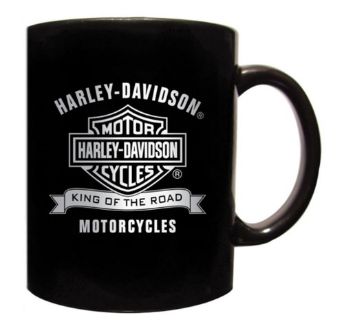Harley-Davidson® Coffee Mug, King Of The Road Bar & Shield, Black CM120330