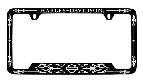 Harley-Davidson® Bottom Imprint Black Metal License Plate Frame HDLFZKXC324-UF