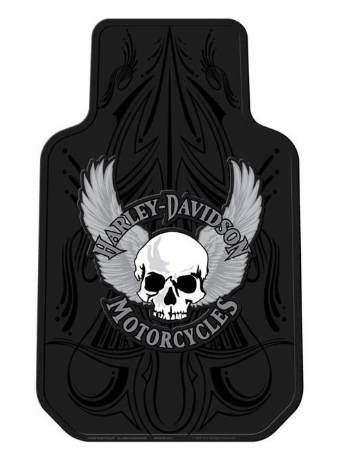 Harley-Davidson® Floor Mats, Winged Skull Universal-Fit Front, Set of 2 Mats 1404