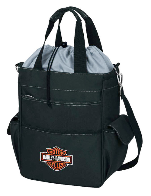 Harley-Davidson® Activo Insulated Cooler Tote, Bar & Shield Logo, Black 641-00