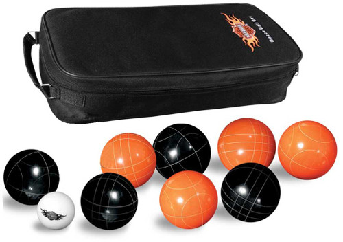 Harley-Davidson® Bocce Ball Game Set: Set of 8 Balls, Black & Orange 66225 - A