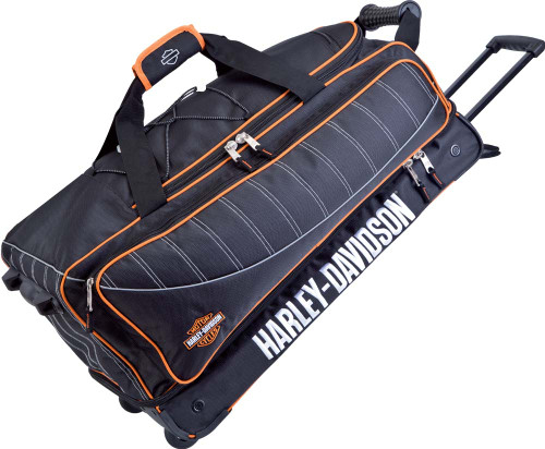 Harley-Davidson® 29'' Black Carry-On Tank Duffel, Backpack straps 99429