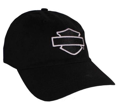 Harley-Davidson® Blank Bar & Shield Loudmouth Black Baseball Cap BC120530