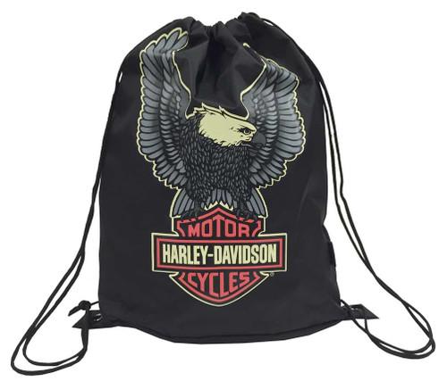 Harley-Davidson® Boys' Up-Wing Eagle Bar & Shield Sling Backpack, Black 7180501