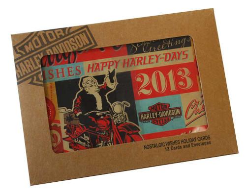 Harley-Davidson® 2013 Nostalgic Wishes Retro 12 Christmas Greeting Card HDL-20033 - A