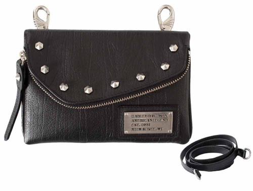 Harley Davidson Womens All Bark Black Hip Bag AB7755L-Black