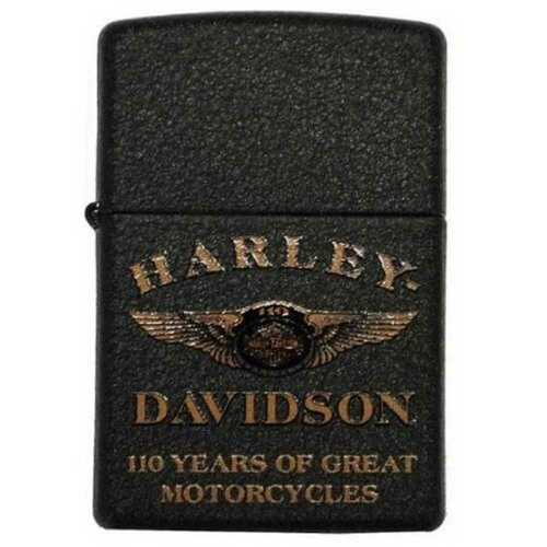 Harley-Davidson® 110th Anniversary Limited Edition Zippo Lighter Black 28417