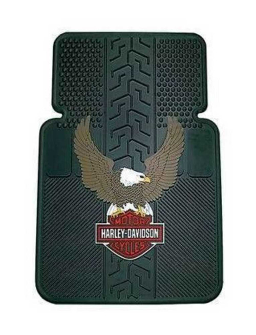 Harley-Davidson® Bar & Shield Eagle Universal-Fit Front Floor Mats, Set of 2 P140