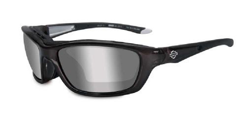 Harley-Davidson® Brick Silver Lens w/ Crystal Metallic Frame Sunglasses HD855