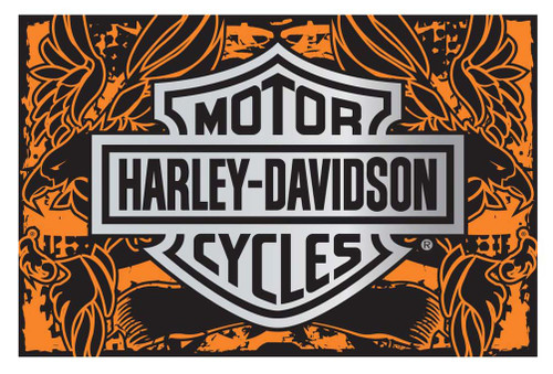 Harley-Davidson® 39 x 59 Eagle Banner Tufted Rug, Non Skid Backing NW642690