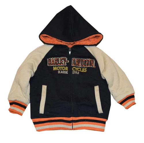 Harley-Davidson® Big Boys' Fleece Sweatshirt, Sherpa Lined Hoodie 3391480 - A