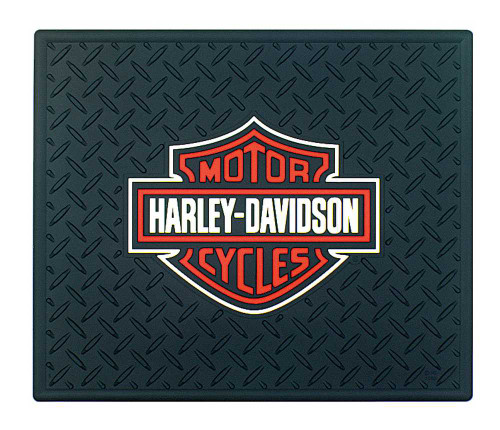 Harley-Davidson® 14 x 17 Orange & White Bar & Shield Utility Mat P1002