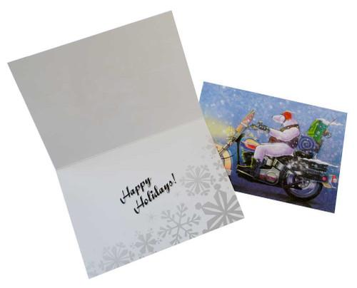 Harley-Davidson® Biker Bear Set of 12 Christmas Greeting Card, Blue 5x7 HDL-20032 - A