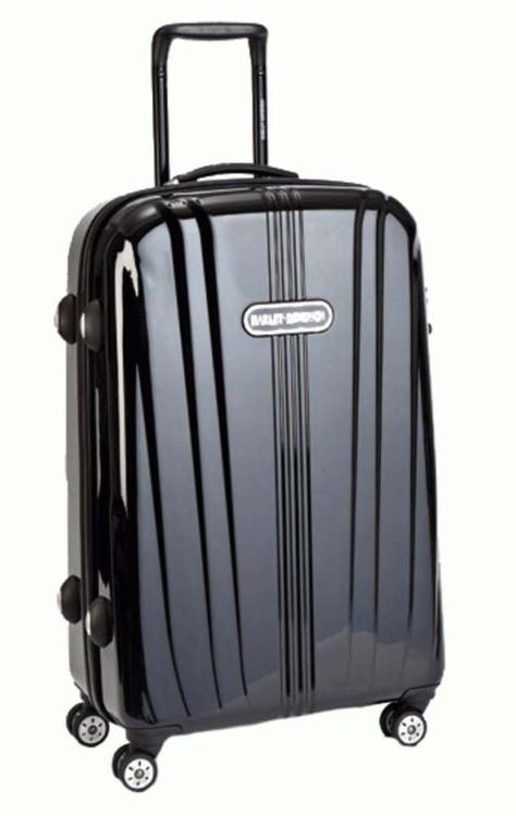 Harley-Davidson® Black Chrome Collection 29'' Molded Pullman Bag 99929-BLK - A