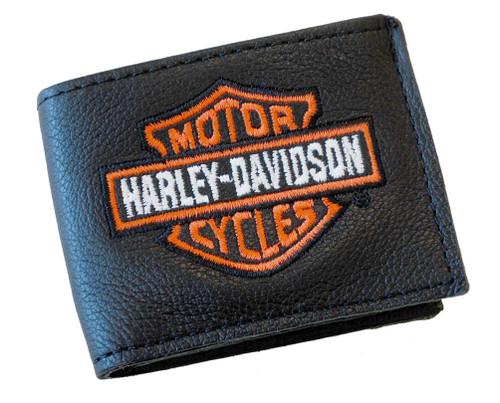 Harley-Davidson® Embroidered Kids Bar & Shield Little Billfold Wallet Black B307H - A