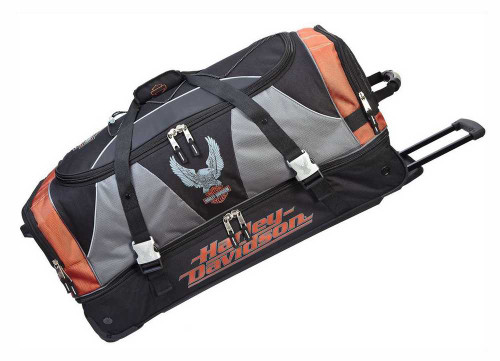 Harley-Davidson® 32 Inch XL Super Organized Duffel, Wheeled Bag 99632-RUST/BLK - D