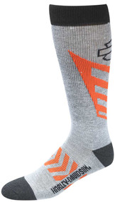 Harley-Davidson® Wolverine Men's CoolMax Performance Rider Socks (Gray, Large)
