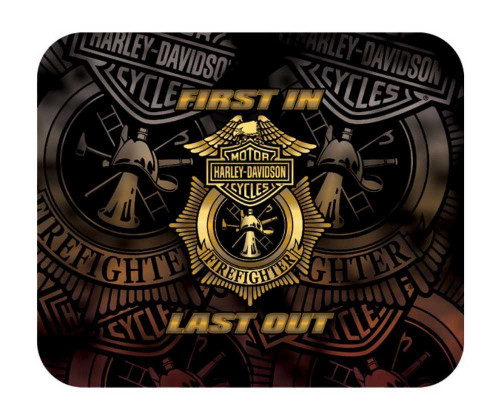 Harley-Davidson® Firefighter First In Last Out Original Mouse Pad - Gold MO126577