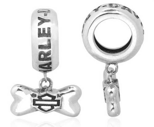 Harley-Davidson® Dangle Dog Bone Sterling Silver Ride Bead HDD0085