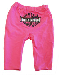 Harley-Davidson® Little Girls' Reversible Pull-On Pants Pink Cotton S9LGT64HD - A