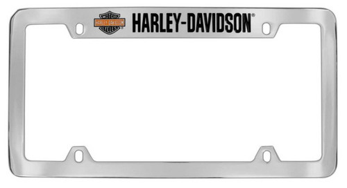 Harley-Davidson® Bar & Shield H-D Script License Plate Frame Chrome HDLF19-U