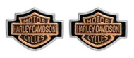 Harley-Davidson® Women's Copper Bar & Shield Cameo Post Earrings HDE0261
