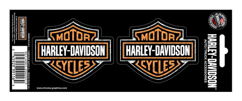Harley-Davidson® Bar & Shield 2-Piece Holographic Decals, 3 x 2.5 Inch CG99116