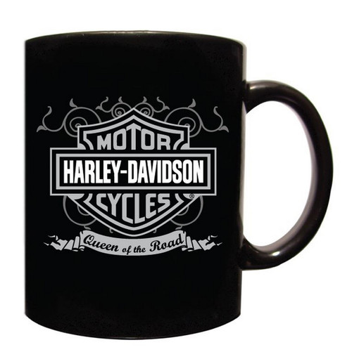Harley-Davidson® Coffee Mug, Queen Of The Road Bar & Shield, Black CM120230