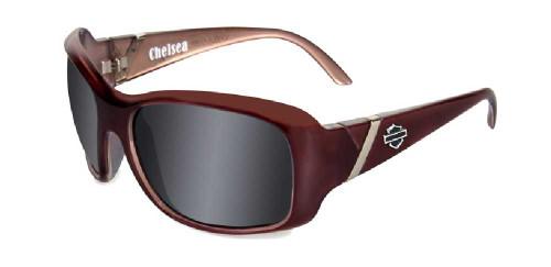 Harley-Davidson® Chelsea Grey Lens w/ Liquid Plum Frame Sunglasses HDCHE01