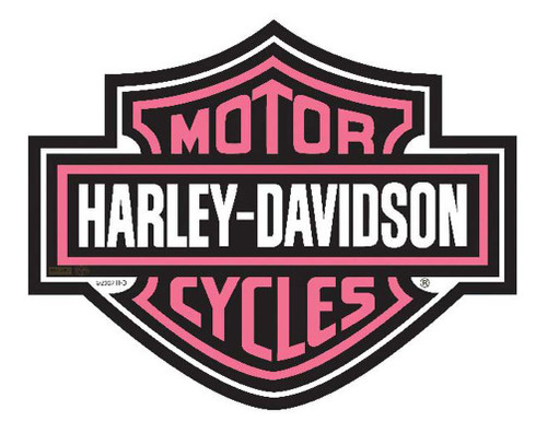 Harley-Davidson® Bar & Shield Cut Out Pink Mouse Pad. MO30207