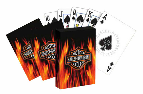 Harley-Davidson® Flameing Bar & Shield Standard Playing Cards Deck 610D