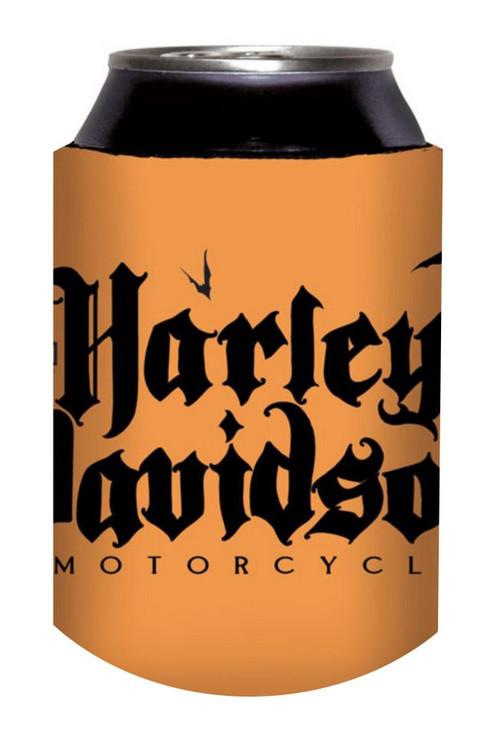 Harley-Davidson® Can Koozie, Black Letter Fold-Up Koozie, Orange CF127338