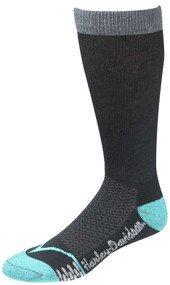 Harley-Davidson® Wolverine Women's CoolMax Performance Rider Socks (Teal, Medium)