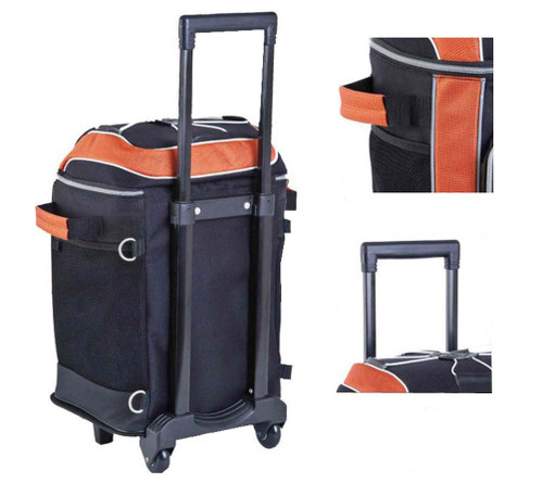 Harley-Davidson® Bar & Shield Wheeling Cooler Black & Orange 99302 - A