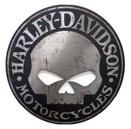 Harley-Davidson® Cut Out Rustic Willie G Skull Aluminum Sign AC-HARL-CUSCGPX5