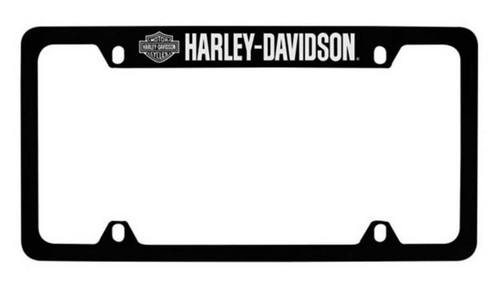 Harley-Davidson® Bar & Shield H-D Script License Plate Frame Black HDLFZK18-U